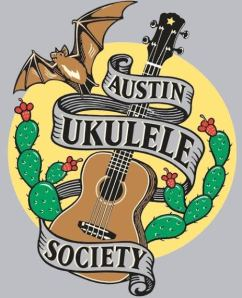 Full-color Austin Ukulele Society logo shirt
